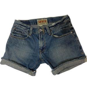 Levi's 514 Slim Straight distressed shorts